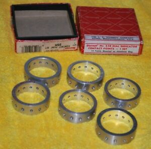 Starrett 25r Dial Indicator Contact Point Rings Original Box