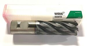 Widia Hanita 1 1 4 Cobalt M42 Roughing End Mill Ticn Coated Fine Pitch 6 Flute