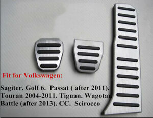 Car Auto Pedal Gas Brake Clutch Non Slip Pads For Vw Abt Magotan Golf 6 Mt