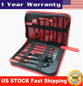 19x Car Dash Parts Panel Repair Tool Kits Fastener Remover Tools Car Accessories