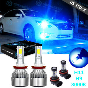 For Nissan Altima 2007 2018 4x 8000k Led Headlight Low Beam Fog Light Bulb Kit