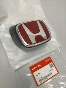 Honda Integra Dc5 Type r Acura Rsx Genuine Front Red h Emblem Badge Oem Parts