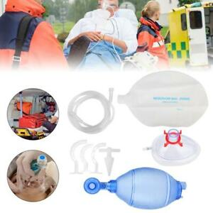 Usa Ship Manual Resuscitator Adult Bag Oxygen Tube First Aid Kit For Patient