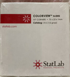 Statlab Microscope Slides 75 X 25 X 1mm Lot Of 4 Boxes 300 Total Slides nibs