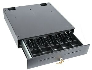 Apg Cash Drawer Jb371 bl1821 c 18 Pos Money Register 5 Bill Coin Slot With Keys