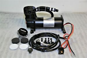 Air Ride Compressor Train Horn Lowrider Bags Suspension Black 12v 200psi 480