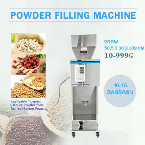 Particle Filler Powder Packing Machine Intelligent Weighing 10 999g Tea Filling