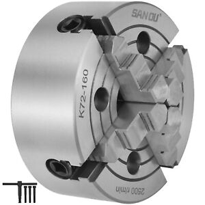 Vevor Lathe Chuck K72 160 6 4 Jaw 160mm Mounting Independent Reversible Jaw