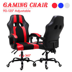 Leather Office Chair High Back Executive Ergonomic Computer Swivel Gaming Chairs