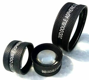Optometry Lens Combo Set Of Three 20d 90d 78d Ophthalmology Optometry