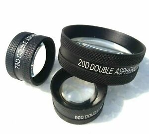 Double Aspheric Lens 20d 90d 78d Ophthalmology Optometry Kfw Lens