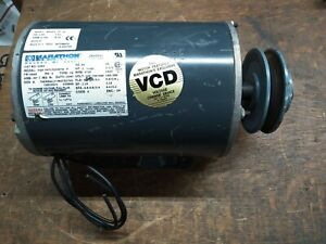 Marathon 2hp Electric Motor 208 230 460vac 3ph 1725rpm Fr56hz With Pulley