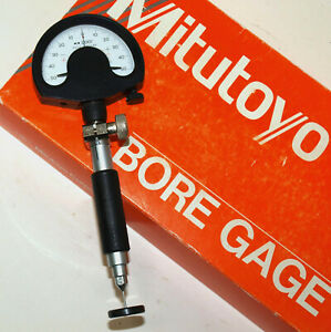 Mitutoyo Small Hole Bore Gage Set 037 061 With Setting Rings Split Ball Probe