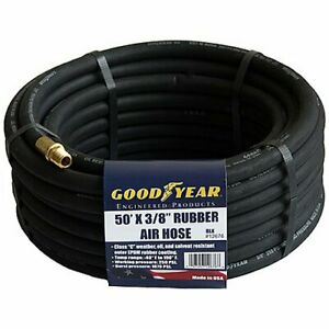 Goodyear Air Hose 12676 Black Rubber Air Hose 50 X 3 8 Weather Oil And Solvent R