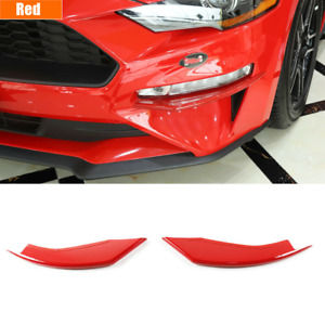 1pair Red Car Front Fog Light Lamp Cover Trim For Ford Mustang 2018 2020