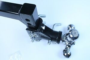 Solid Hd Tri Ball Swivel Adjustable Trailertow Drop Hitch Ball Mount 2 Receiver