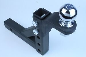 Trailer 10 Drop Hitch Ball Mount 2 Receiver With 2 5 16 Hitch Ball Adjustable