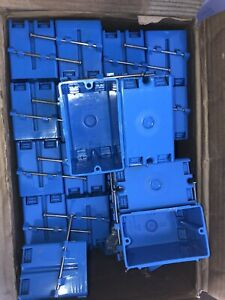 Carlon B118a Pvc 1 gang New Work Outlet switch Box Blue 18 Cu In Approx 100