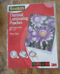 Scotch Thermal Laminating Pouches 9 X 11 4 Tp3854 20 Gloss 10 In The Package