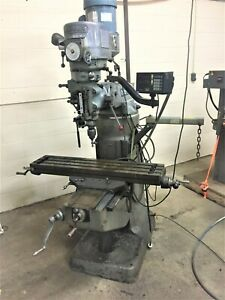 Bridgeport Series I Standard Milling Machine With 2j Head 42 Table And Sony 2