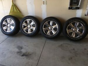 Ford F150 King Ranch 20 Chrome Oem Wheels Tires