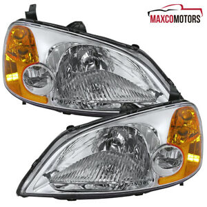 For 2001 2002 2003 Honda Civic Dx Ex Lx Sedan coupe Replacement Headlights