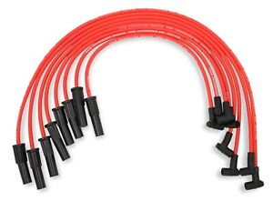 Mallory 601 8mm Red Pro Wire Spark Plug Wire Set 1974 1976 Big Block Chevy 454