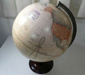 The George F Cram Companies Classic 12 Inch Style Globe With Wood Wooden Base