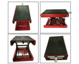 New 1100 Lb 9 Wide Deck Motorcycle Dirt Atv Bikes Lift Stand Jack Red