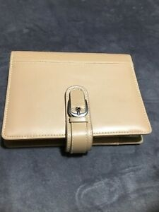Franklin Covey Beige Compact Organizer Planner Binder Clutch Compact Size 4
