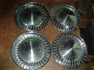 Nice Vtg 1961 69 Set International Scout 14 Turbine Directional Hubcaps Covers