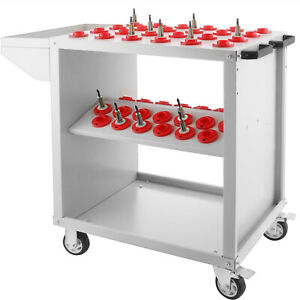 Cnc Toolscoot Tool Trolley Cart For 30 Taper Tool Holders Cat30 Bt30 Nmtb White