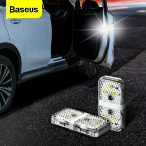 Baseus 2 Pcs Car Door Warning Lights 6 Leds Anti Collid Flash Light Alarm Lamp