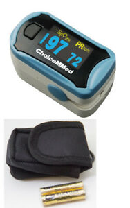 Choicemmed Spo2 Finger Blood Oxygen Pulse Oximeter With Free Battery And Case