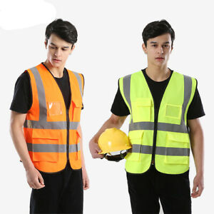 High Visibility Security Reflective Vest Construction Traffic Warehouse Rescue