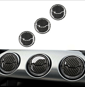 Carbon Fiber Car Interior Air Vent Outlet Trim Cover For Ford Mustang 2015 2020