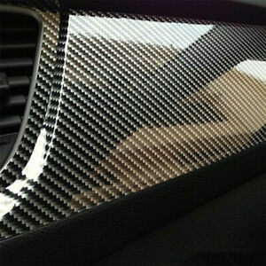 5d Car Interior Parts Accessories Panel Black Carbon Fiber Vinyl Wrap Sticker