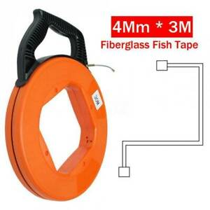 98ft Fiberglass Cable Wire Reel Snake Conduit Duct Rodder Fish Tape Puller