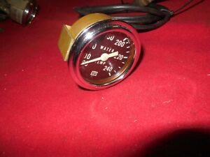 Vintage Stewart Warner 2 1 8 Full White Needle 60 240 Mech Water Temp Gauge