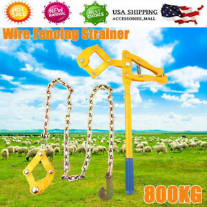 Chain Strainer Barn Farm Wire Fence Stretcher Tensioner Repair Tool 3 9ft 1 2m