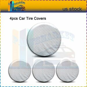 4x Spare Tire Covers Wheel Sun Protection Cover33 35inches White