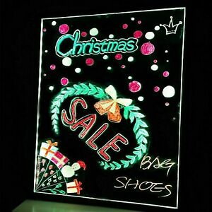 32 x24 Flashing Illuminated Fluorescence Led Message Menu Writing Sign Board Us