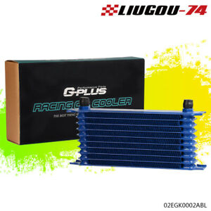 10 Row 10an Universal Powder Coated Aluminum Engine Transmission Oil Cooler