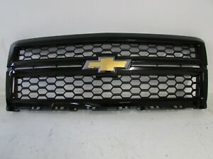Oem 2014 2015 Chevrolet Silverado 1500 Front Grille Grill 23235956 Gloss Black