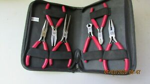 Mac Tools 5 pc Precision Pliers Set P301700x Complete Excellent Used Condition
