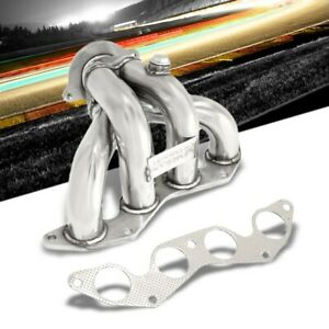 Megan Racing Stainless Exhaust Header Manifold For 01 04 Honda Civic Ex 1 7l