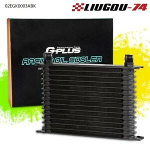 15 Row 10 An Powder Coated Aluminum Engine Transmission Racing Oil Cooler Black