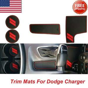 Cup Holder Insert Center Console Shifter Liner Trim Mats Fit For Dodge Charger