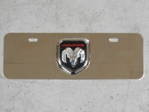 Emblem License Plate Tag Chrome Logo Stainless Steel Mini Plate For Dodge Ram