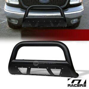 For 1997 2003 F150 expedition Textured Black Studded Mesh Bull Bar Bumper Guard